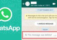 خواندن پیام های حذف شده واتساپ