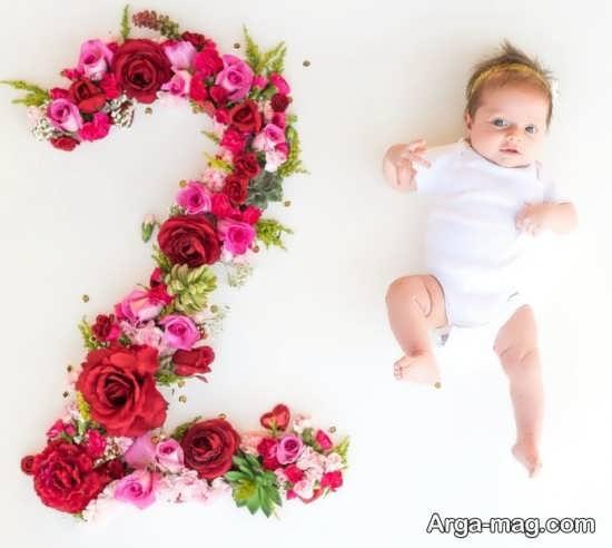 انواع زیبا فیگو عکس ماهگرد نوزاد