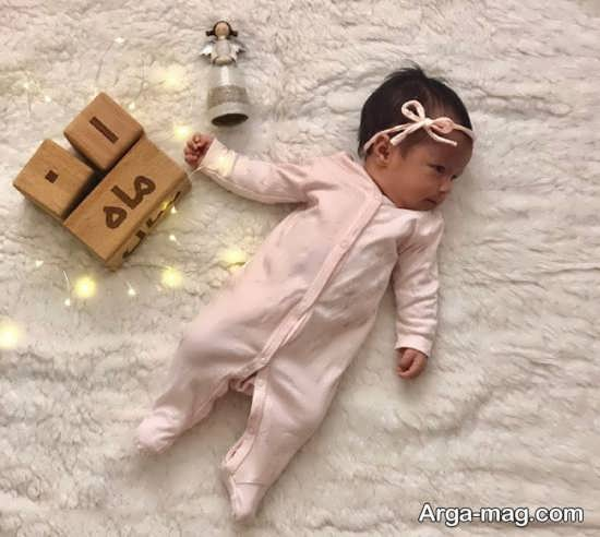 انواع فیگور عکس ماهگرد نوزاد
