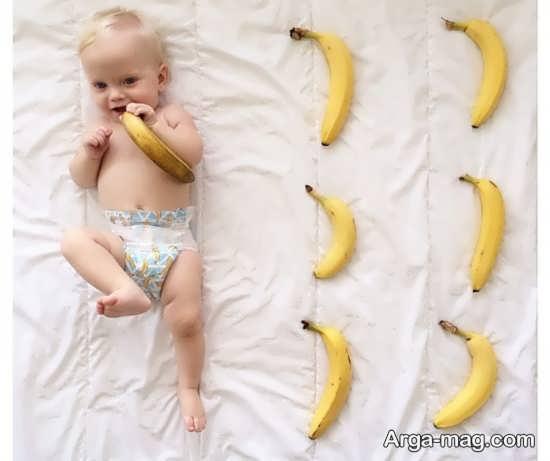 مجموعه ژست عکس ماهگرد نوزاد