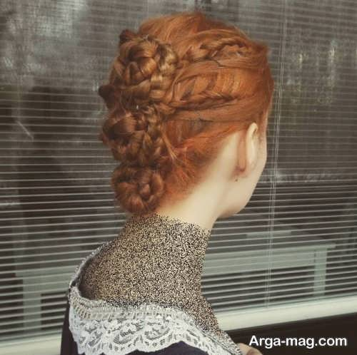شینیون بسته همراه با بافت مو