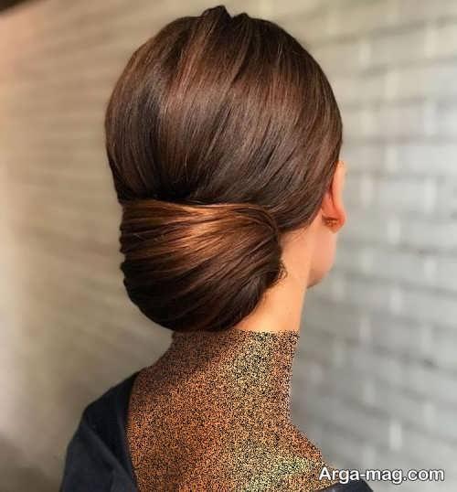 شینیون موی باز برای افراد قد بلند