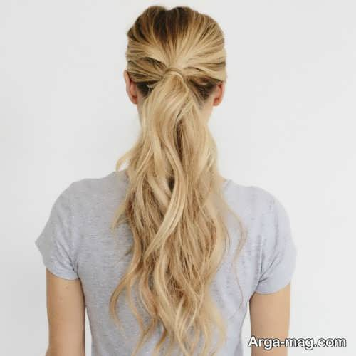 شینیون موی باز برای خانم های قد بلند