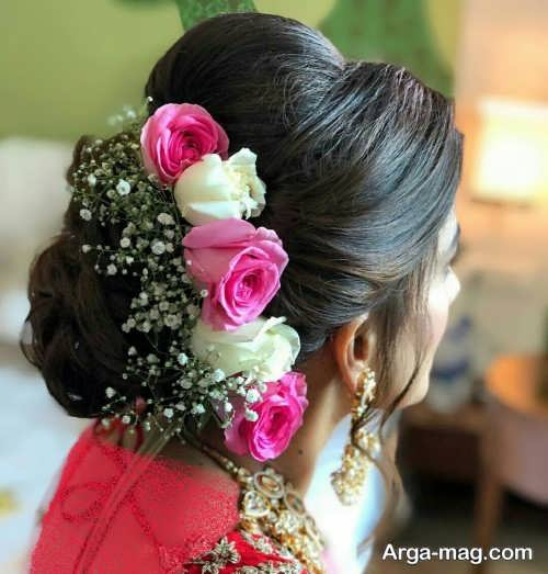 شینیون با گل طبیعی