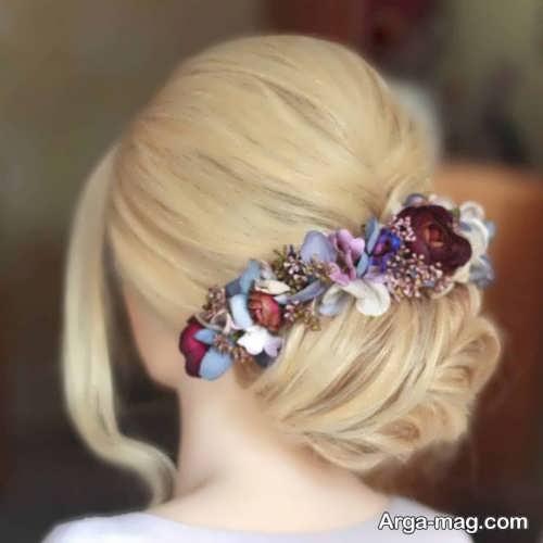 شینیون مو با گل