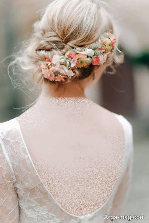آرایش مو زیبا زنانه با گل طبیعی
