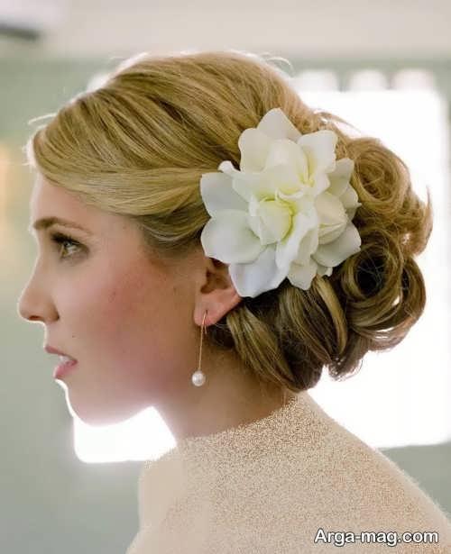 آرایش مو با گل های طبیعی و زیبا