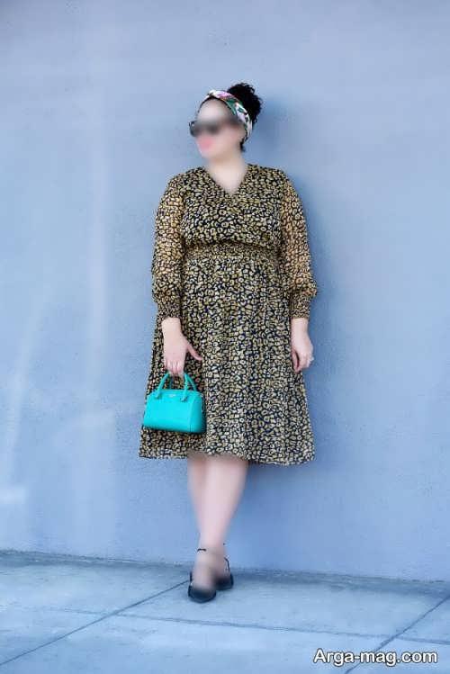 مدل ست لباس طرح دار برای افراد چاق