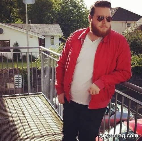 ست لباس قرمز و مشکی برای افراد چاق