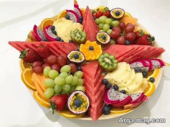 میوه آرایی با استفاده از تکه های قاچ شده