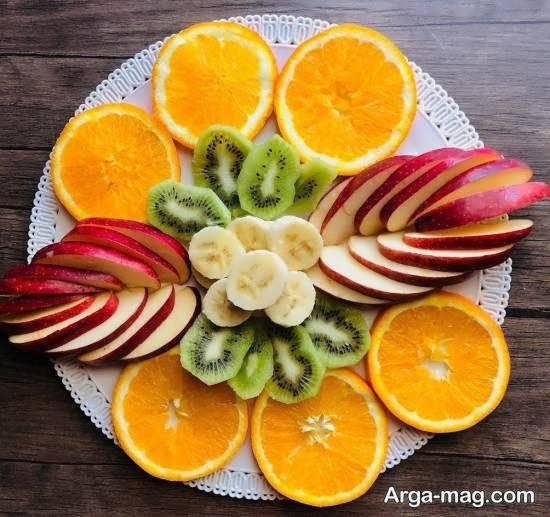 انواع میوه آرایی های شیک و زیبا با قطعه های میوه