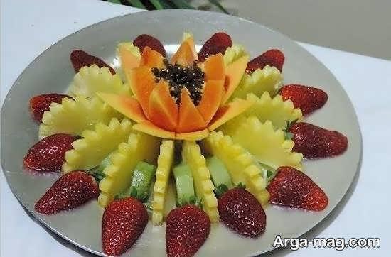 انواع الگوهای اشتهابرانگیز تزیینات با برش میوه