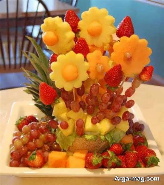 آشنایی با انواع نمونه های ایده آل تزیین با تکه های میوه
