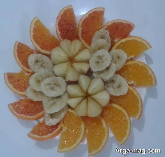 میوه آرایی با استفاده از تکه های میوه میوه