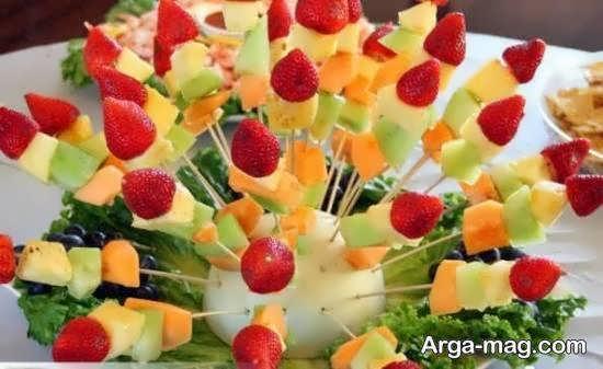 انواع ایده های جذاب برش میوه