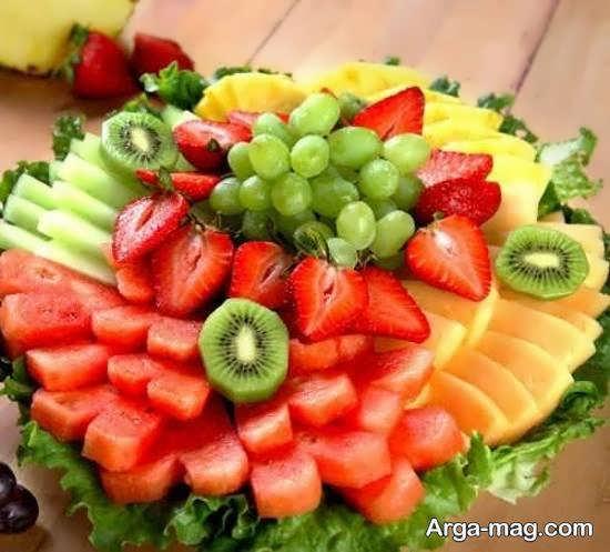 انواع نمونه های خارق العاده دیزاین با تکه های میوه