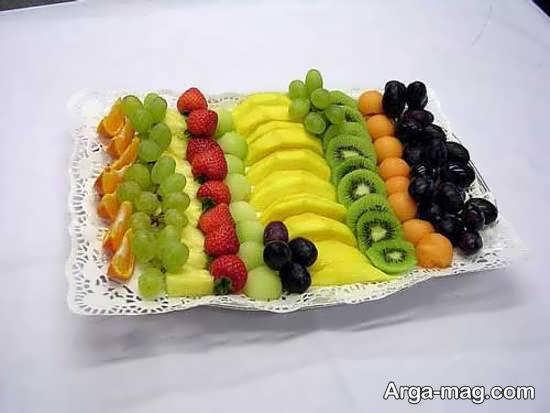 انواع نمونه های زیبا و منحصر به فرد دیزاین میوه با قطعه های میوه
