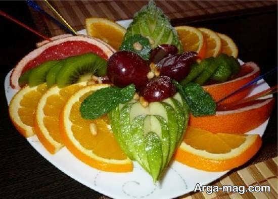 تزیینات زیبا با تکه های میوه