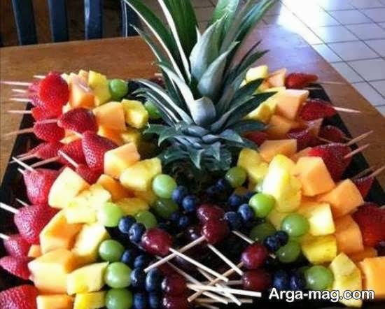 قاچ زدن میوه های مختلف برای تزیین