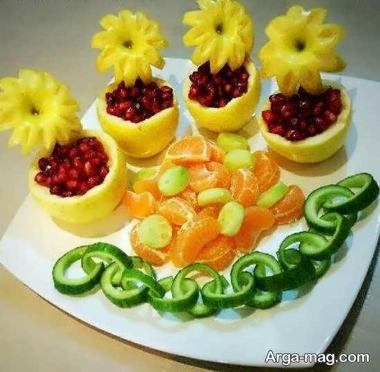 برش میوه برای تزیینات