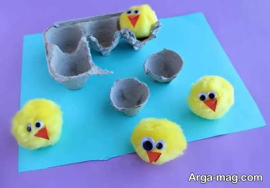 اموزش کار هنری با شانه تخم مرغ