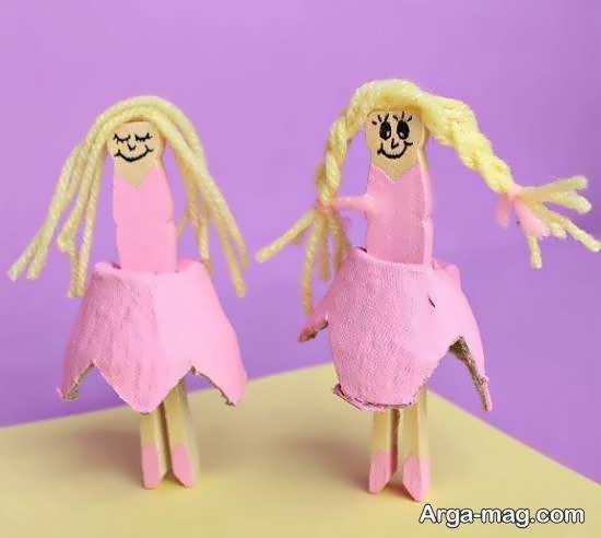 ساخت عروسک دست ساز فرشته با شانه تخم مرغ