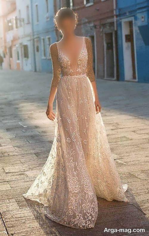 مدل لباس عروس شیک و کرمی
