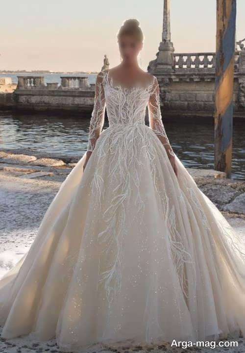 مدل لباس عروس کرمی