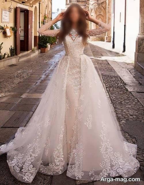 پیراهن عروس کرمی