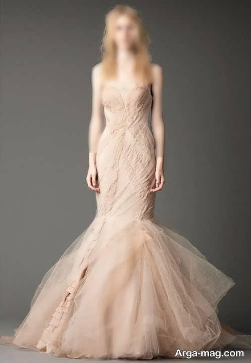 مدل لباس عروس کرمی و زیبا