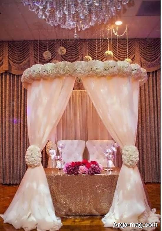 طرح های خلاقانه تزیینات پشت سر عروس