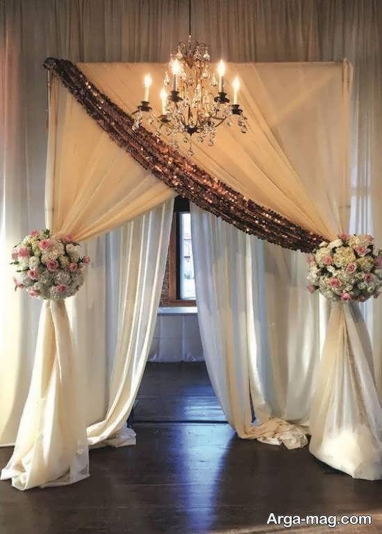 دیزاین و زیباسازی پشت سر عروس