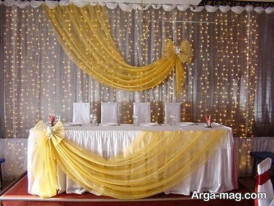 انواع ایده های تزیین پشت سر عروس