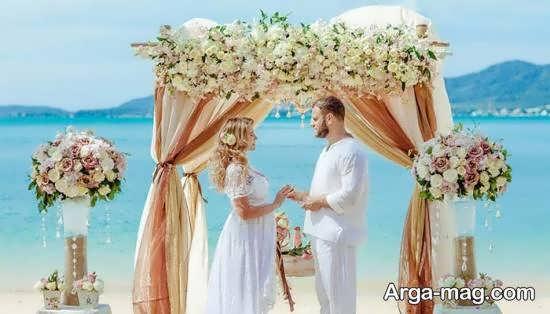 تزیینات پشت سر عروس