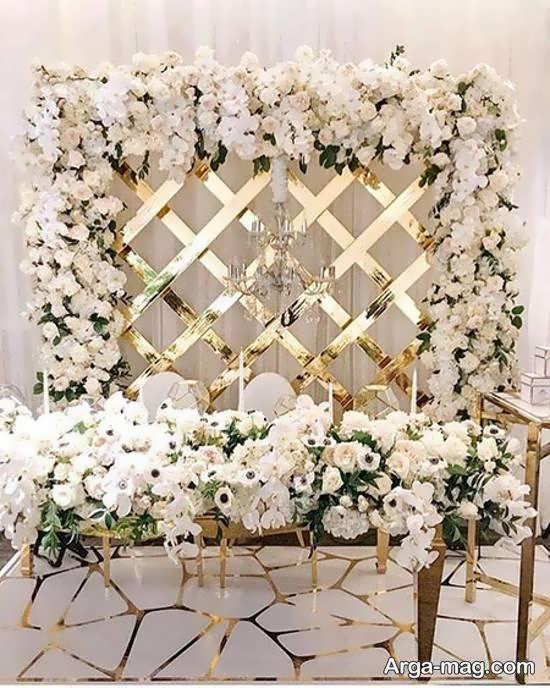 انواع نمونه های لاکچری و لوکس دیزاین پشت سر عروس