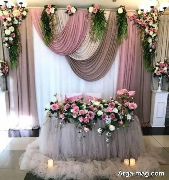 انواع ایده های زیبا و جذاب تزیین پشت سر عروس