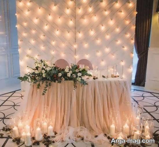 تزیین جایگاه پشت سر عروس