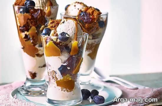ایده هایی جذاب از دیزاین بستنی در جام