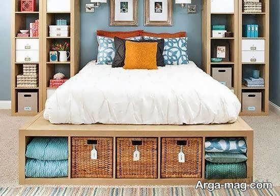 انواع نمونه های تزیین فضای زیر تختخواب