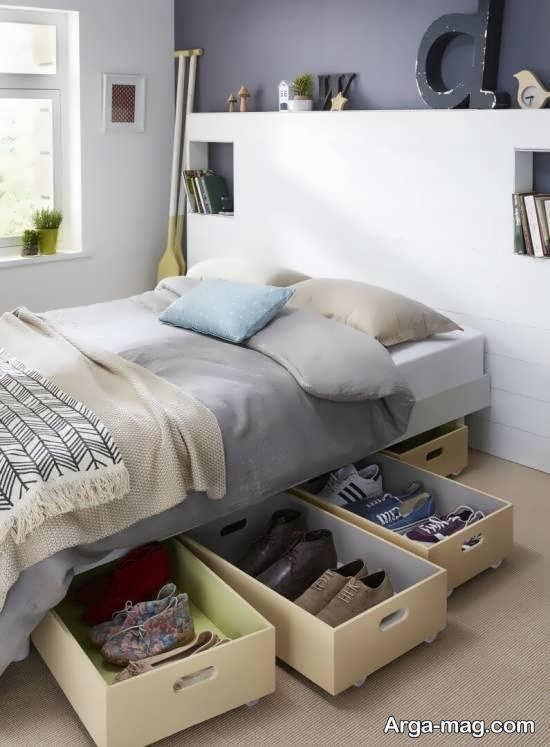دیزاین و زیباسازی زیر تخت خواب