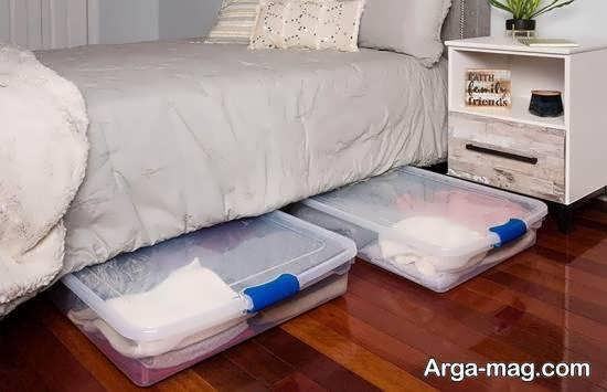 ایده های تزیین زیر تخت خواب