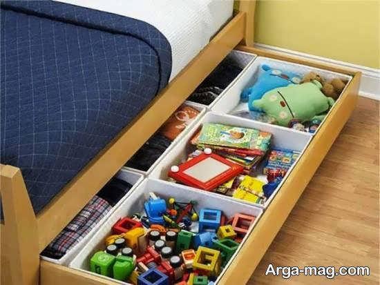 تزیینات زیبا و دوست داشتنی زیر تخت خواب