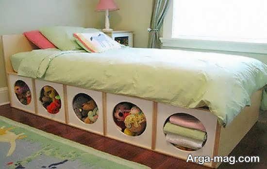 تزیینات زیر تخت خواب با خرید تختخواب های کشودار