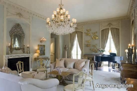 انواع نمونه های زیبای دیزاین سبک فرانسوی