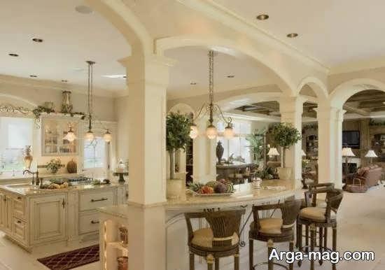 دیزاین بخش های مختلف خانه با سبک فرانسوی
