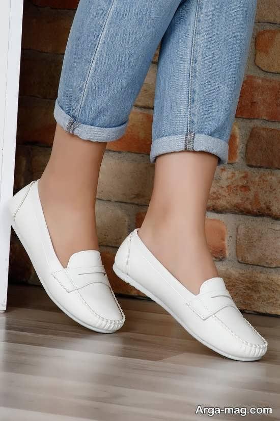 مدل کفش جدید سفید رنگ