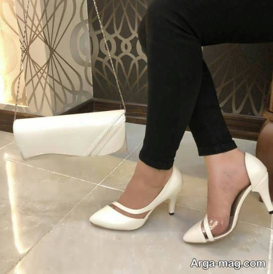 انواع جدید مدل کفش سفید دخترانه