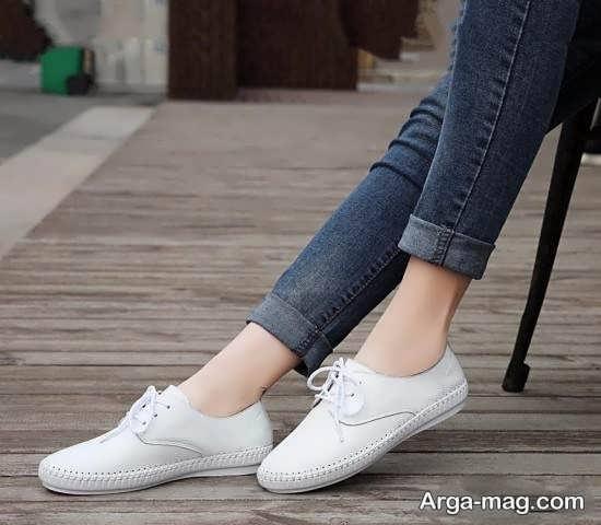 نمونه کفش سفید راحتی