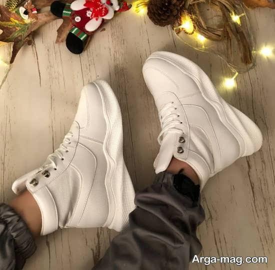 مدل کفش پوتینی سفید دخترانه