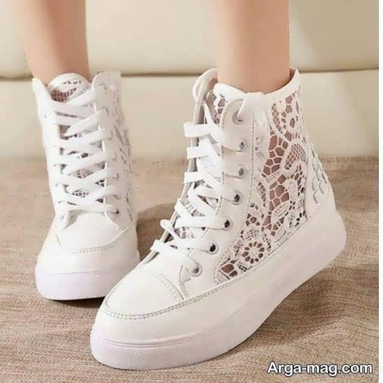 سری جدید مدل کفش سفید دخترانه